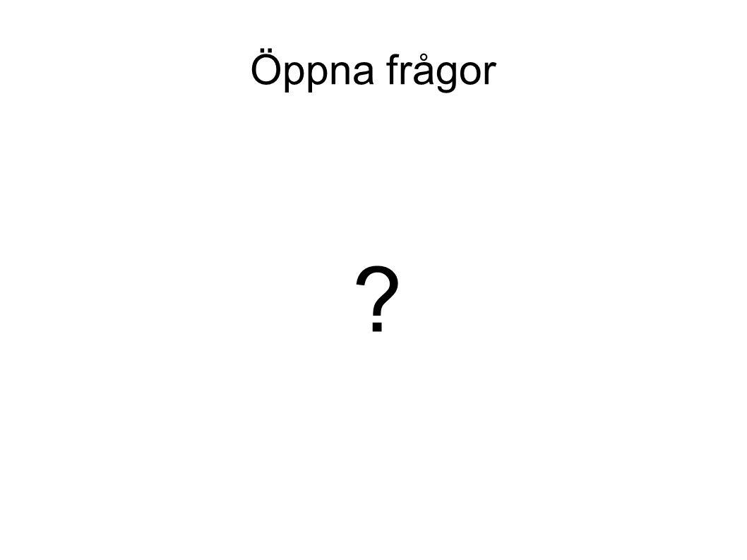 Öppna frågor