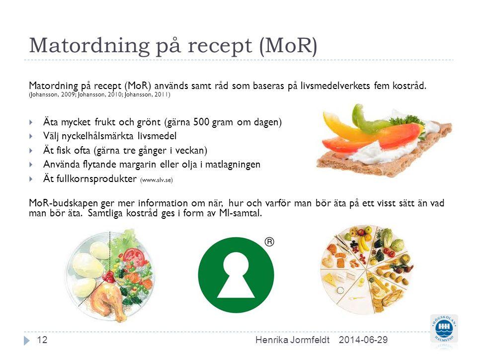 Matordning på recept (MoR)