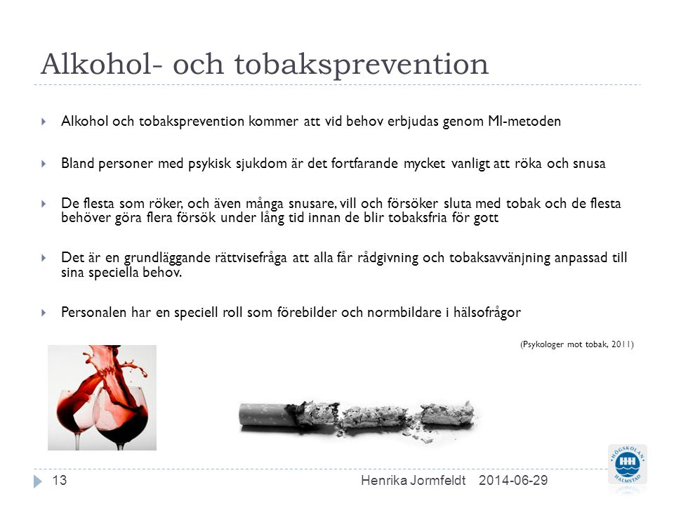 Alkohol- och tobaksprevention