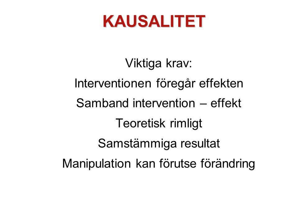 KAUSALITET