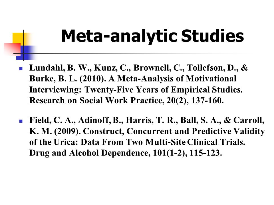 Meta-analytic Studies