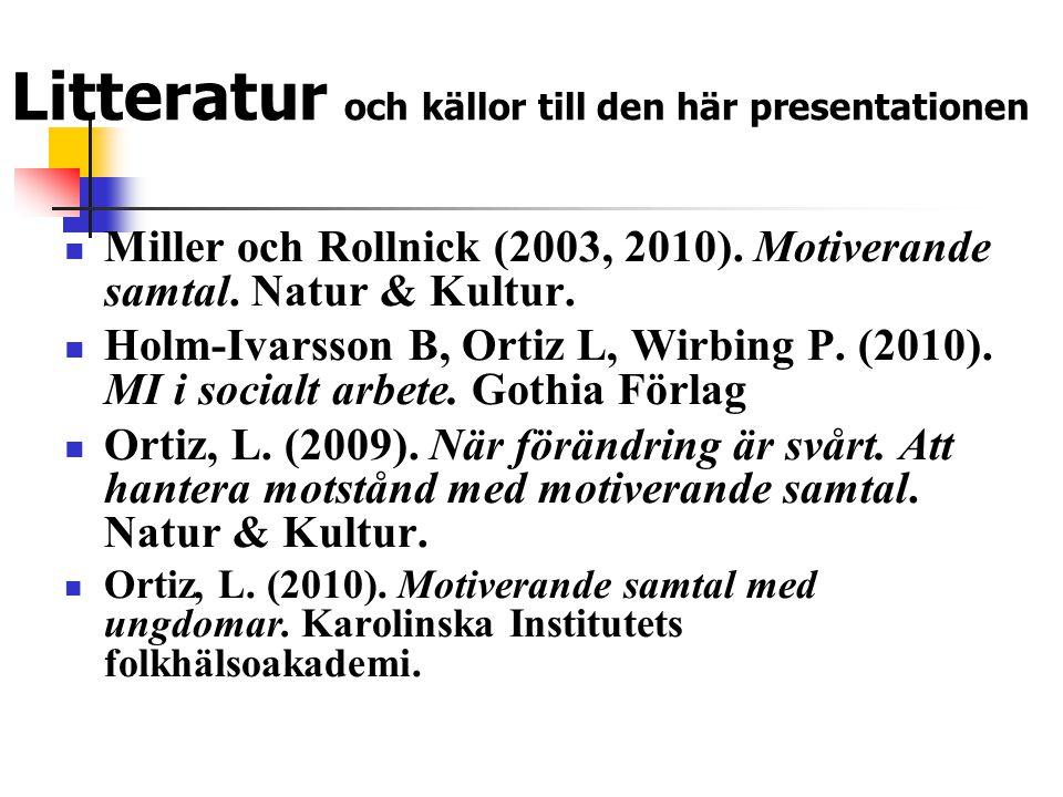 Litteratur och källor till den här presentationen