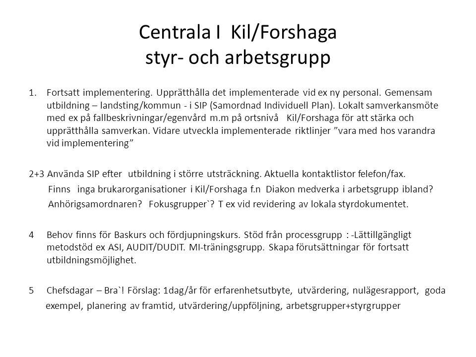 Centrala I Kil/Forshaga styr- och arbetsgrupp