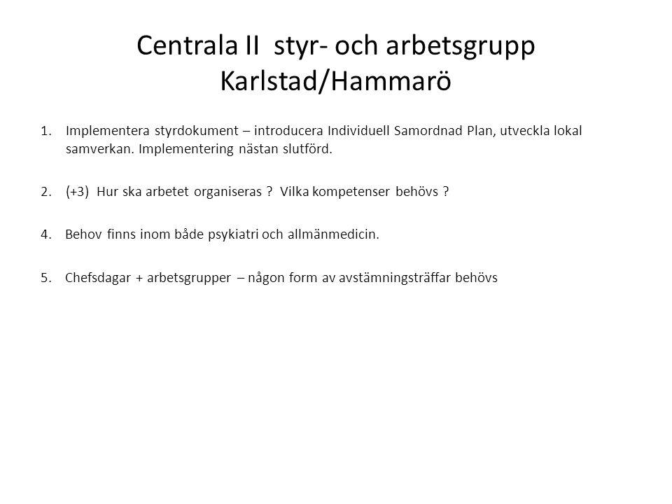 Centrala II styr- och arbetsgrupp Karlstad/Hammarö