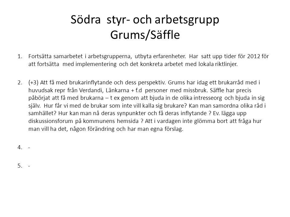 Södra styr- och arbetsgrupp Grums/Säffle
