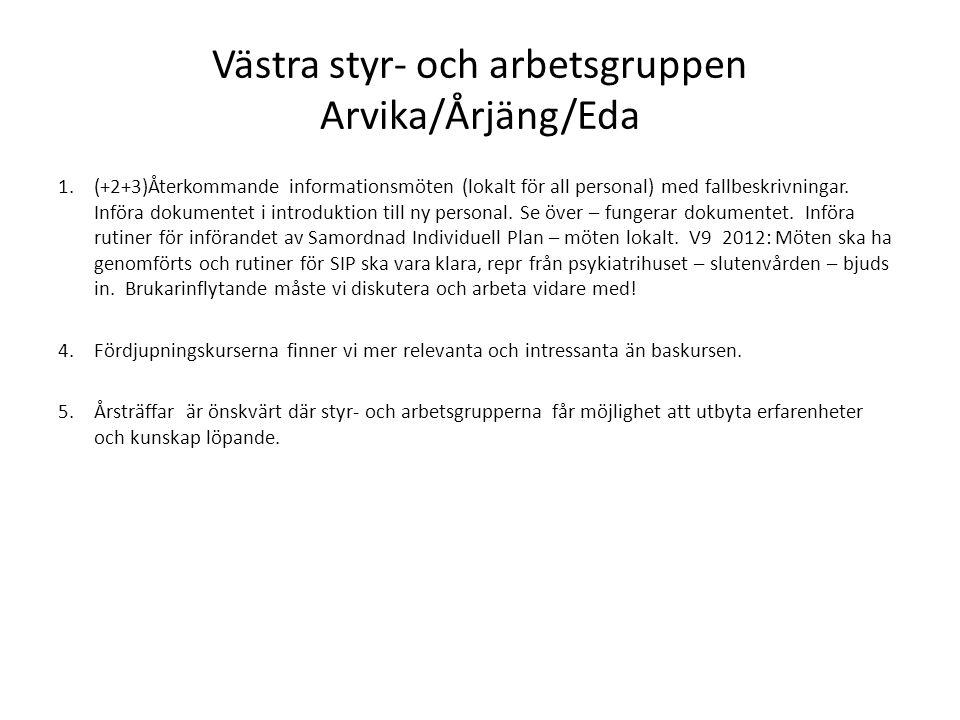 Västra styr- och arbetsgruppen Arvika/Årjäng/Eda