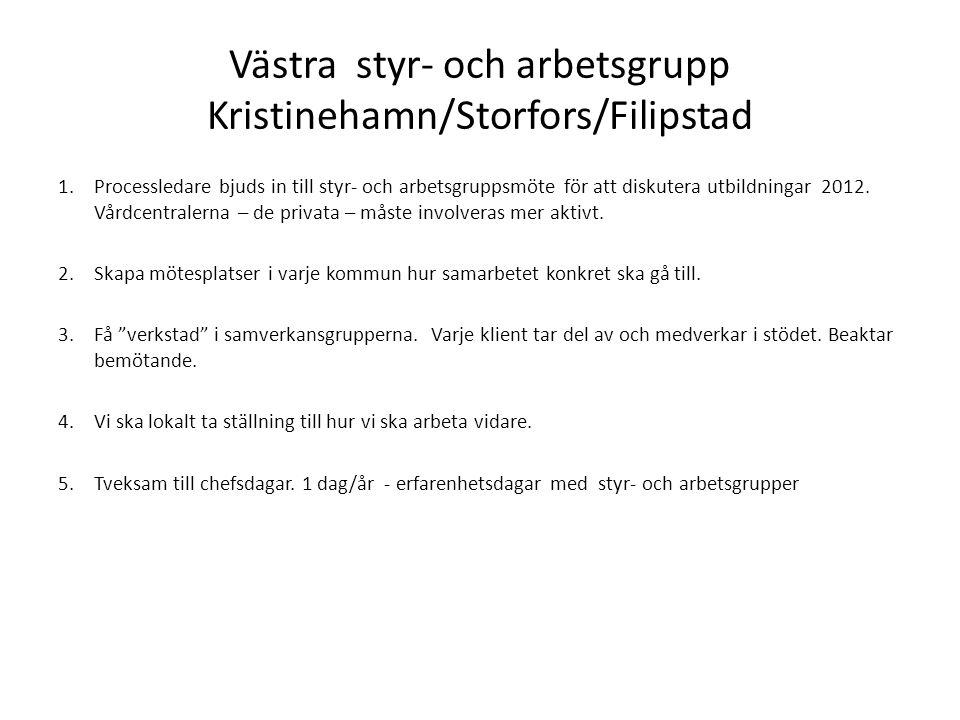 Västra styr- och arbetsgrupp Kristinehamn/Storfors/Filipstad
