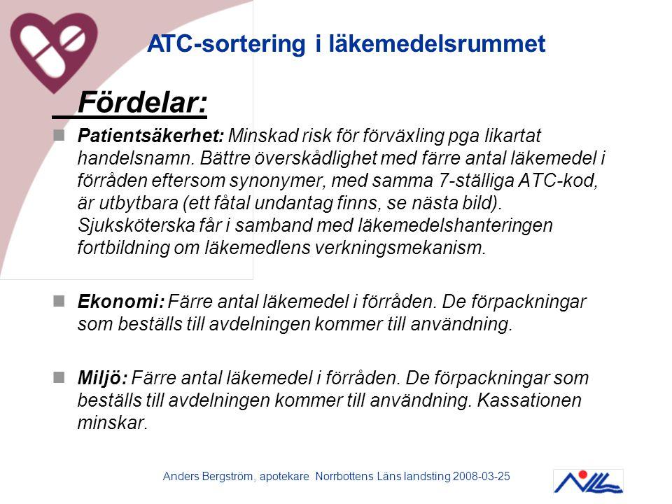 Anders Bergström, apotekare Norrbottens Läns landsting 2008-03-25
