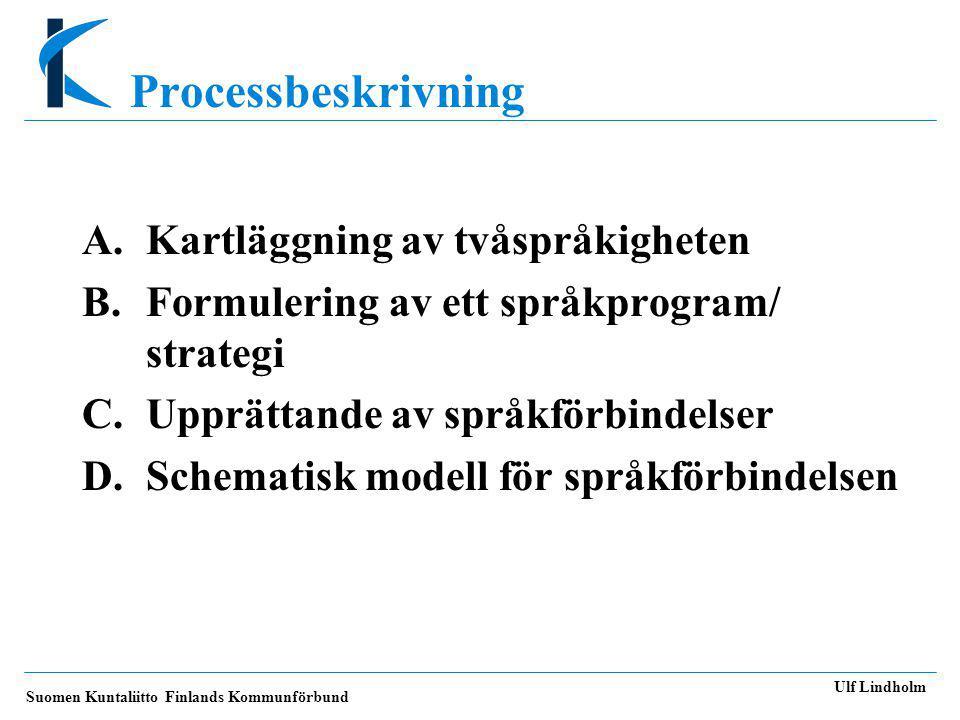 Processbeskrivning A. Kartläggning av tvåspråkigheten