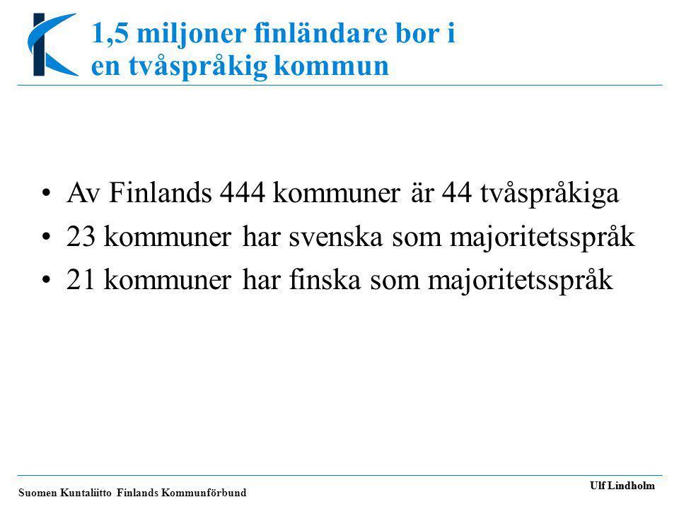 1,5 miljoner finländare bor i en tvåspråkig kommun