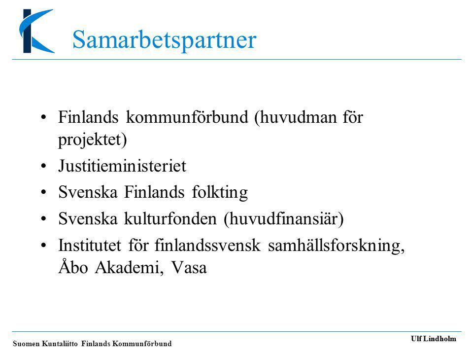 Samarbetspartner Finlands kommunförbund (huvudman för projektet)