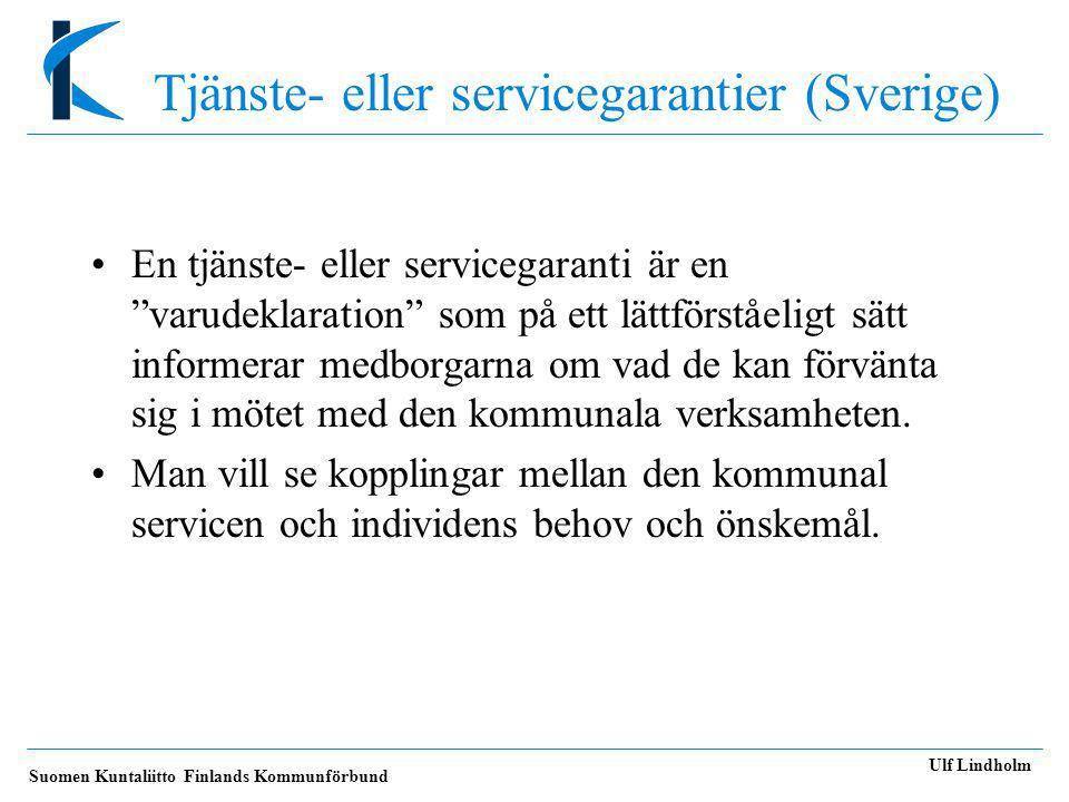 Tjänste- eller servicegarantier (Sverige)