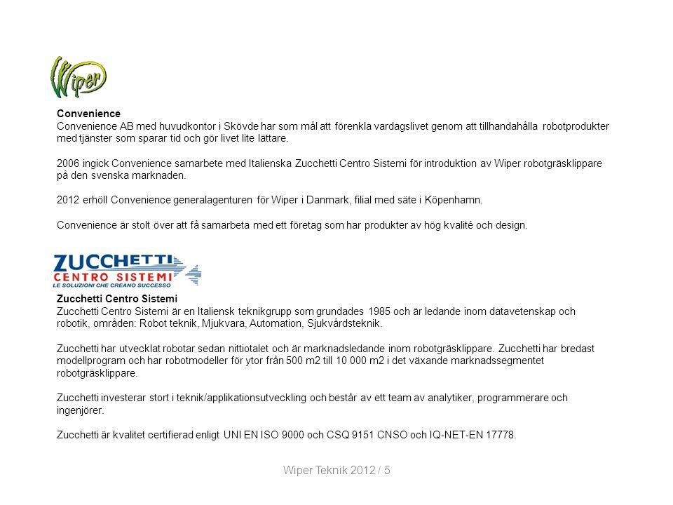 Wiper Teknik 2012 / 5 Convenience