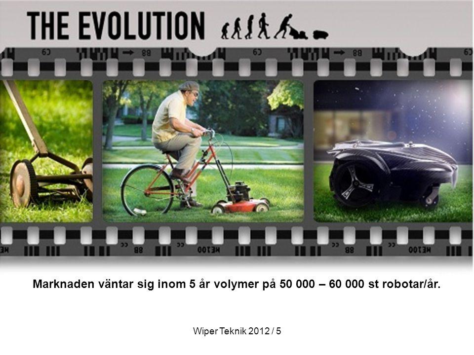 Marknaden väntar sig inom 5 år volymer på 50 000 – 60 000 st robotar/år.