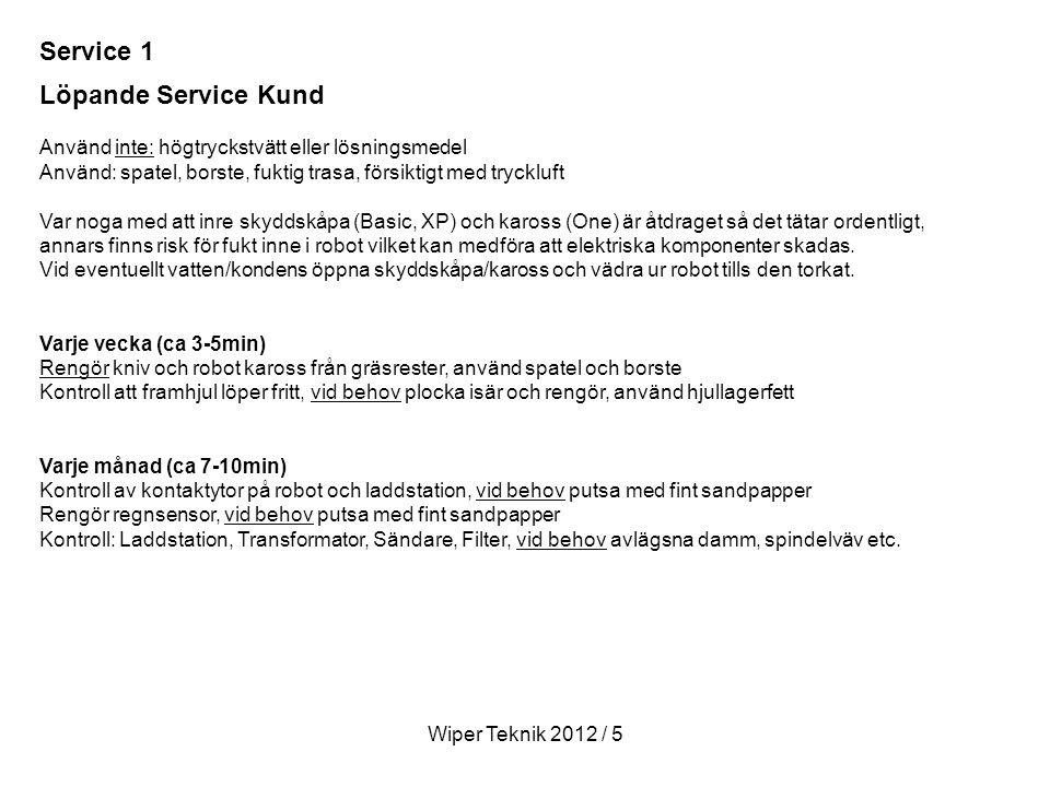 Service 1 Löpande Service Kund