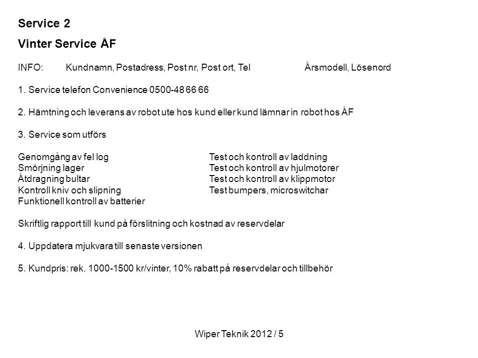 Service 2 Vinter Service ÅF