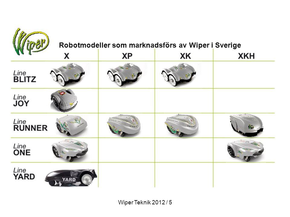 Robotmodeller som marknadsförs av Wiper i Sverige