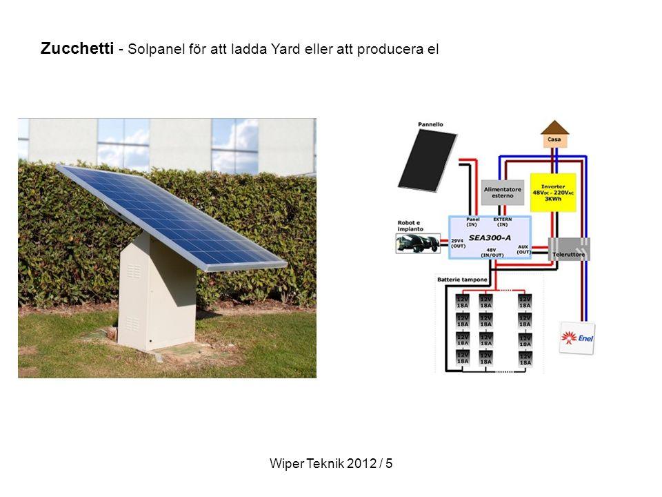 Zucchetti - Solpanel för att ladda Yard eller att producera el