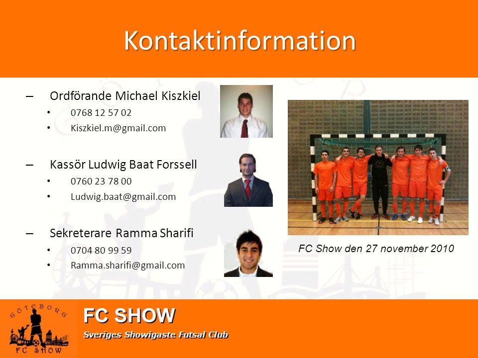 Kontaktinformation Ordförande Michael Kiszkiel