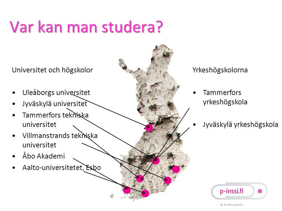 Var kan man studera Universitet och högskolor Uleåborgs universitet