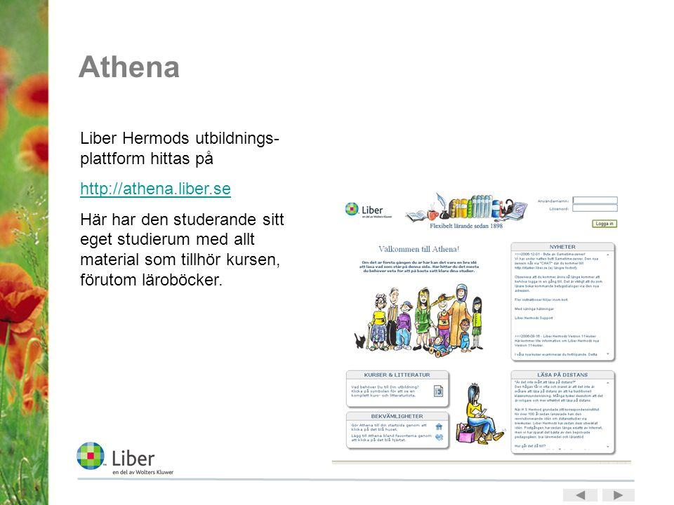 Athena Liber Hermods utbildnings-plattform hittas på