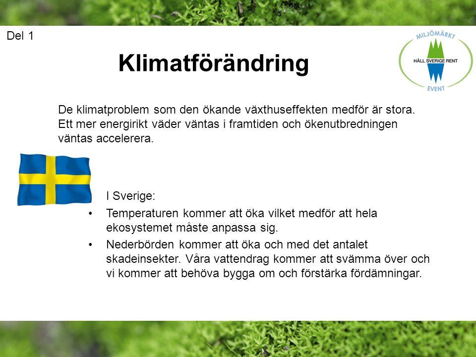 Del 1 Klimatförändring.