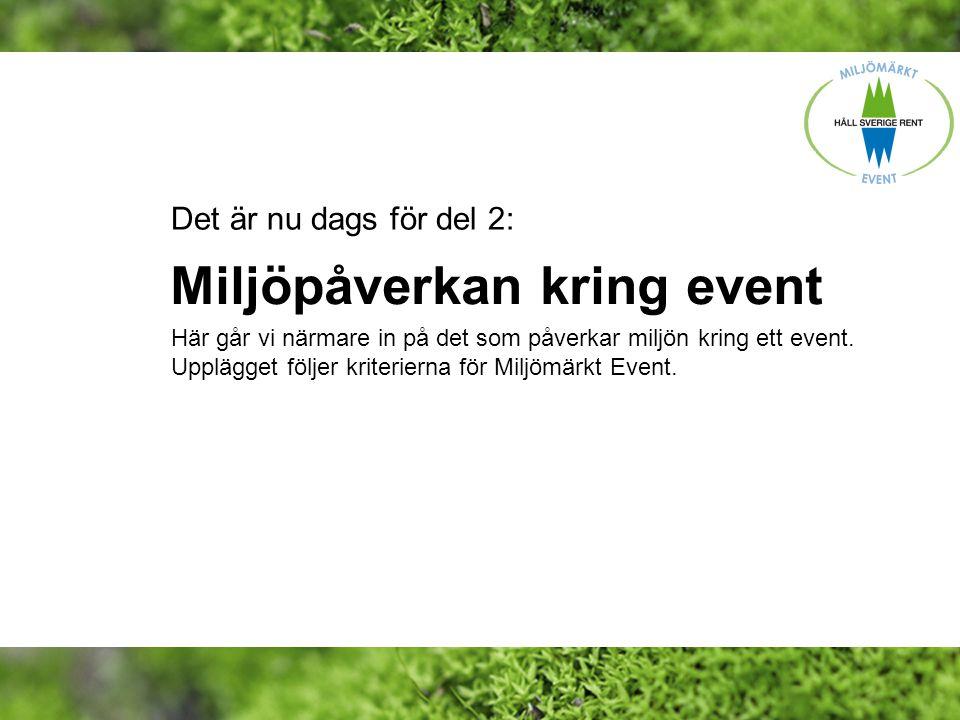 Miljöpåverkan kring event