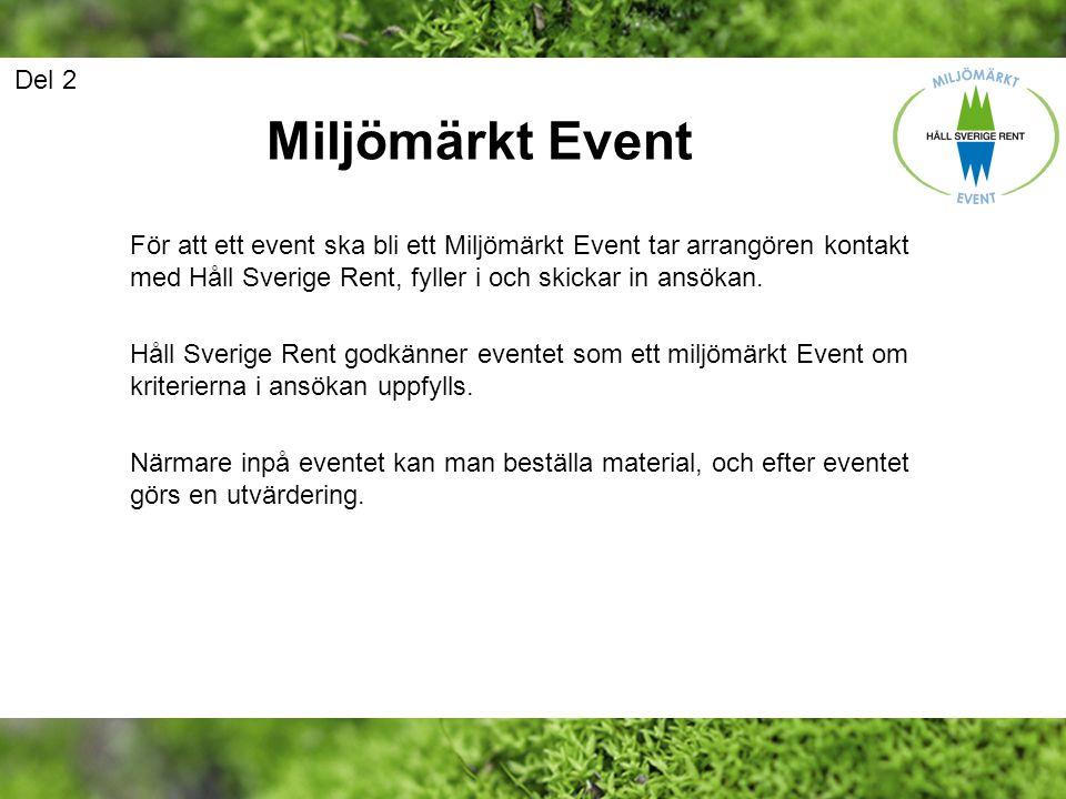 Del 2 Miljömärkt Event.