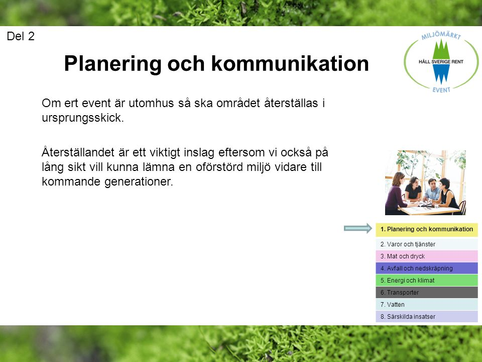 Planering och kommunikation