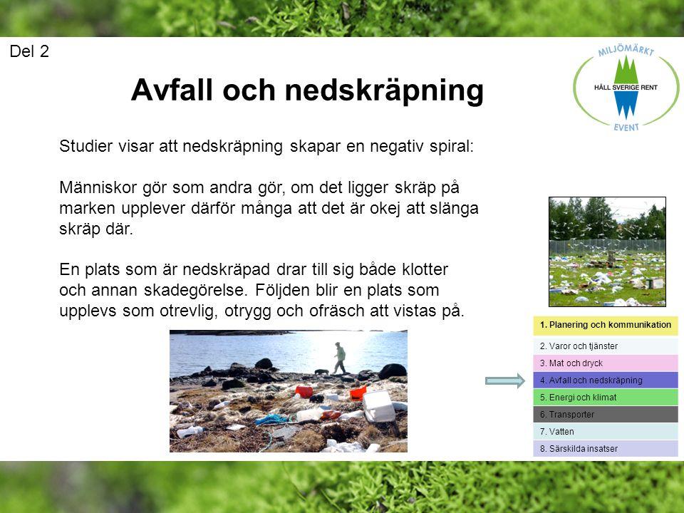 Avfall och nedskräpning