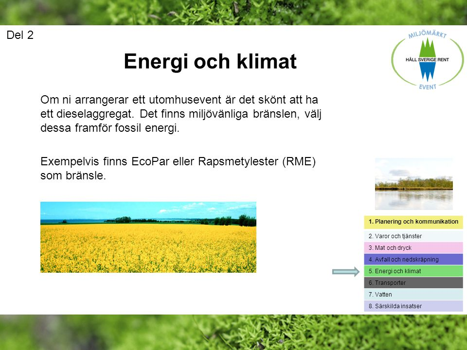 Del 2 Energi och klimat.