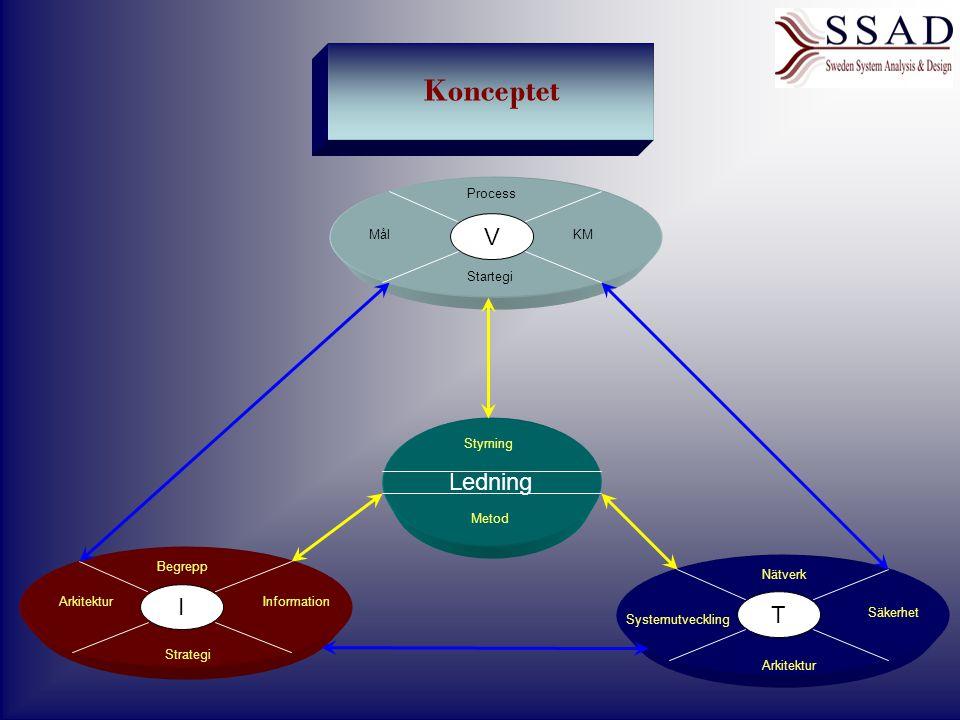 Konceptet V Ledning I T Process Mål KM Startegi Styrning Metod Begrepp