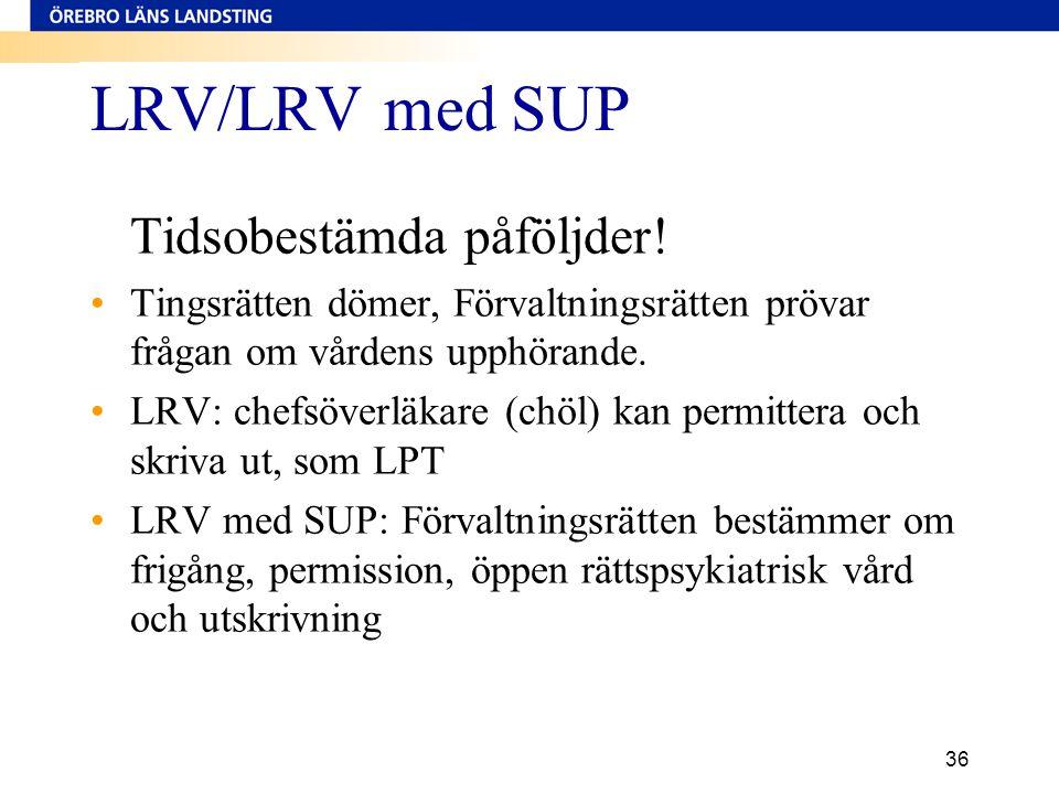 LRV/LRV med SUP Tidsobestämda påföljder!