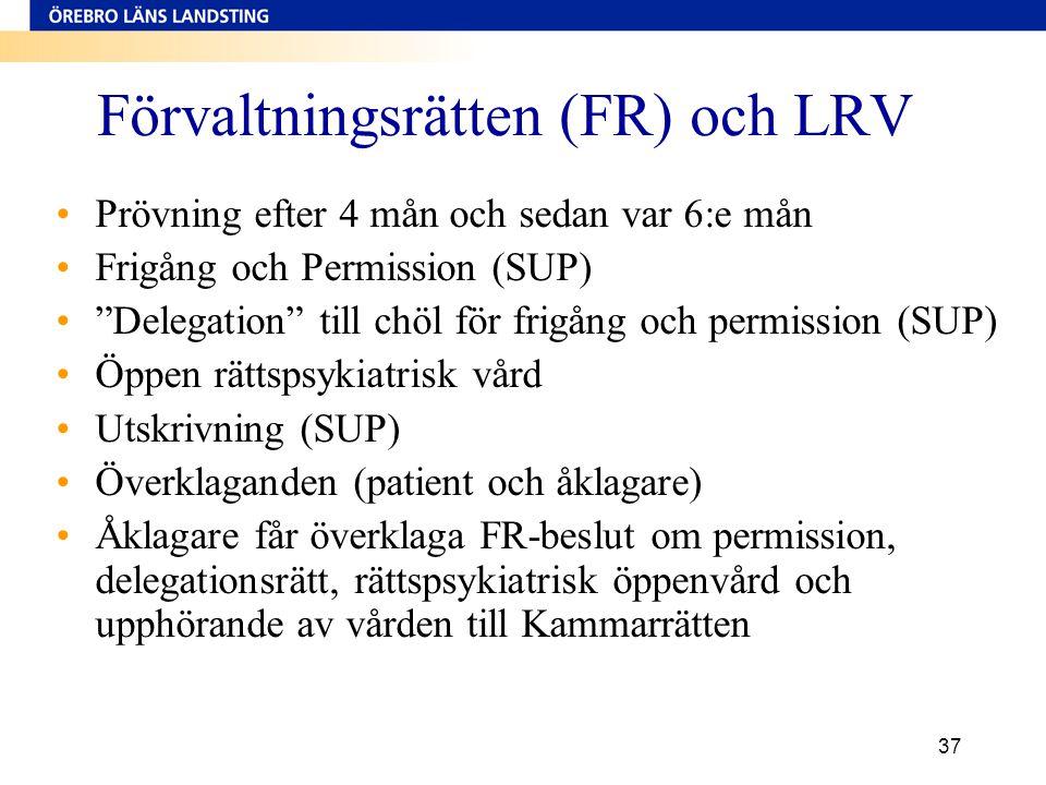 Förvaltningsrätten (FR) och LRV