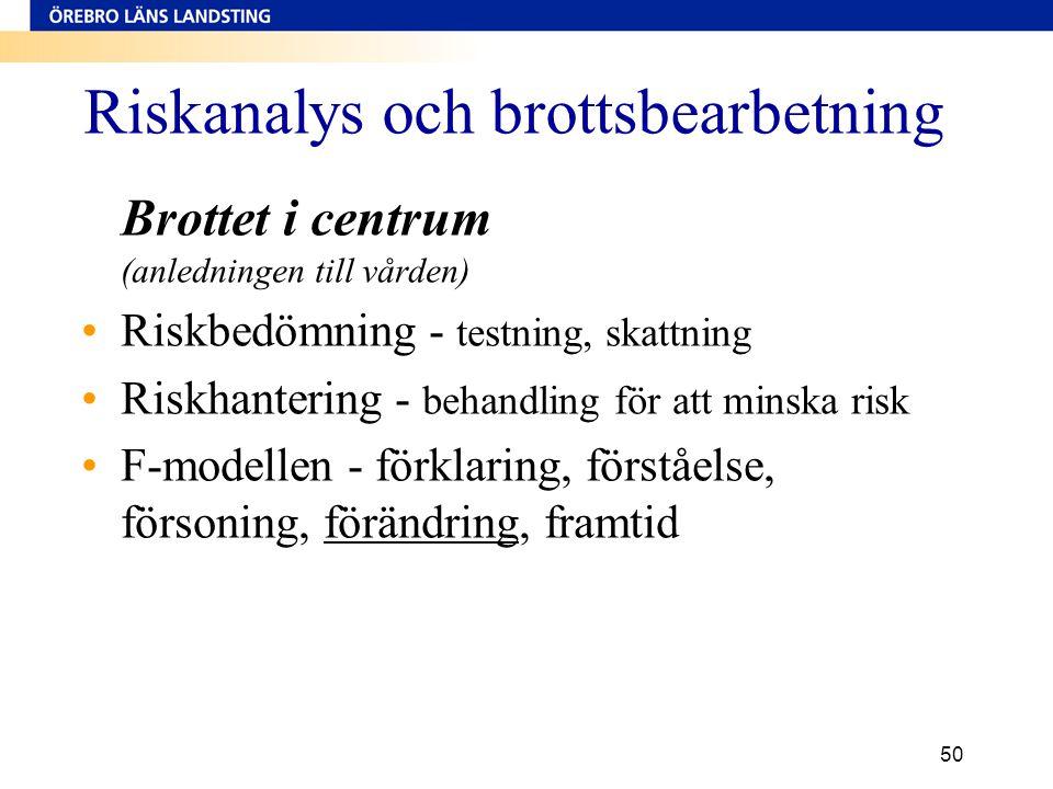 Riskanalys och brottsbearbetning