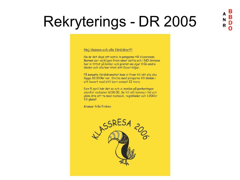 Rekryterings - DR 2005