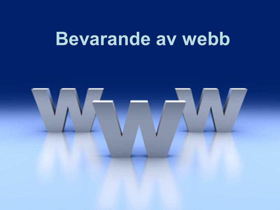Bevarande av webb