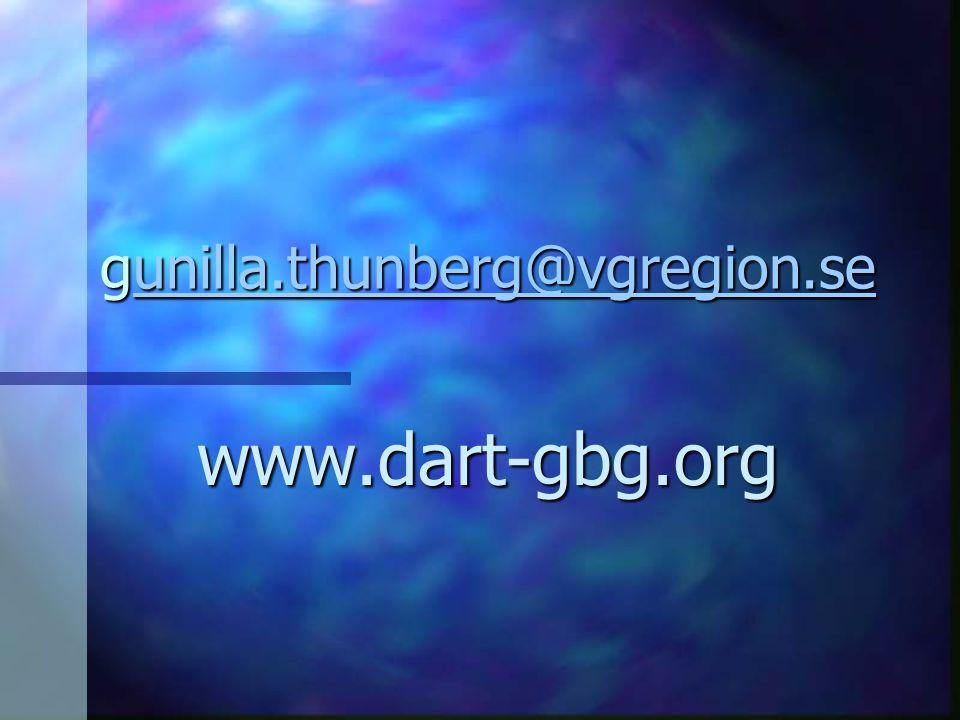 gunilla.thunberg@vgregion.se www.dart-gbg.org