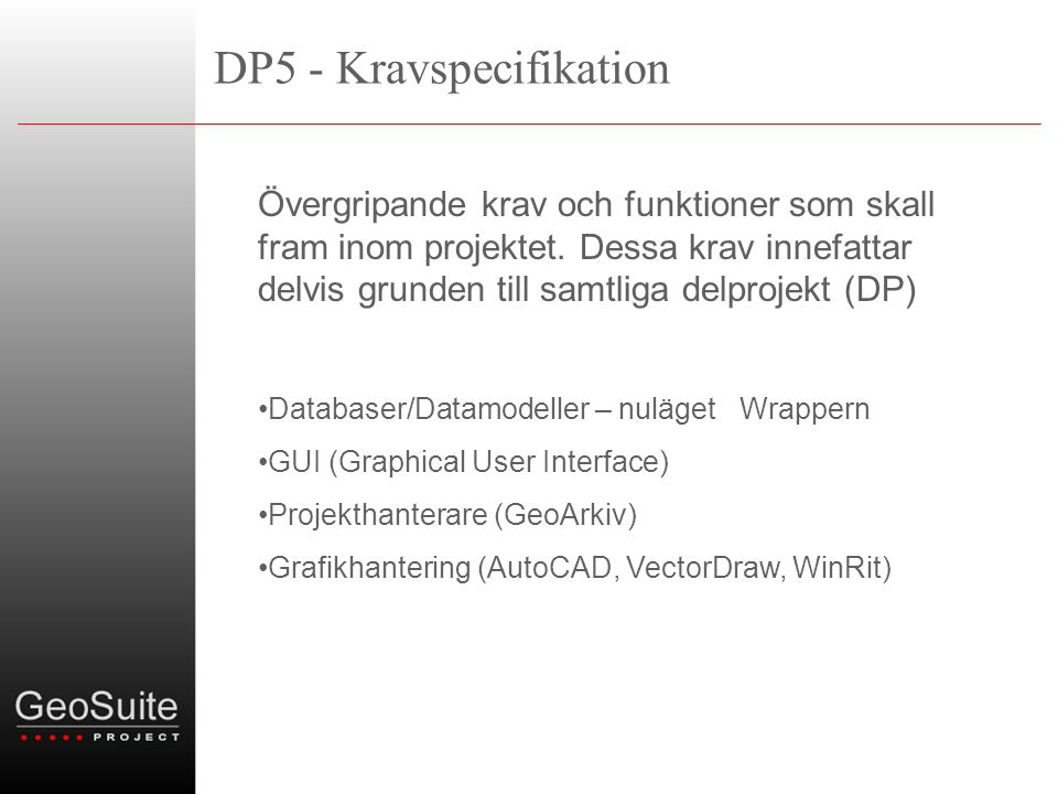 DP5 - Kravspecifikation