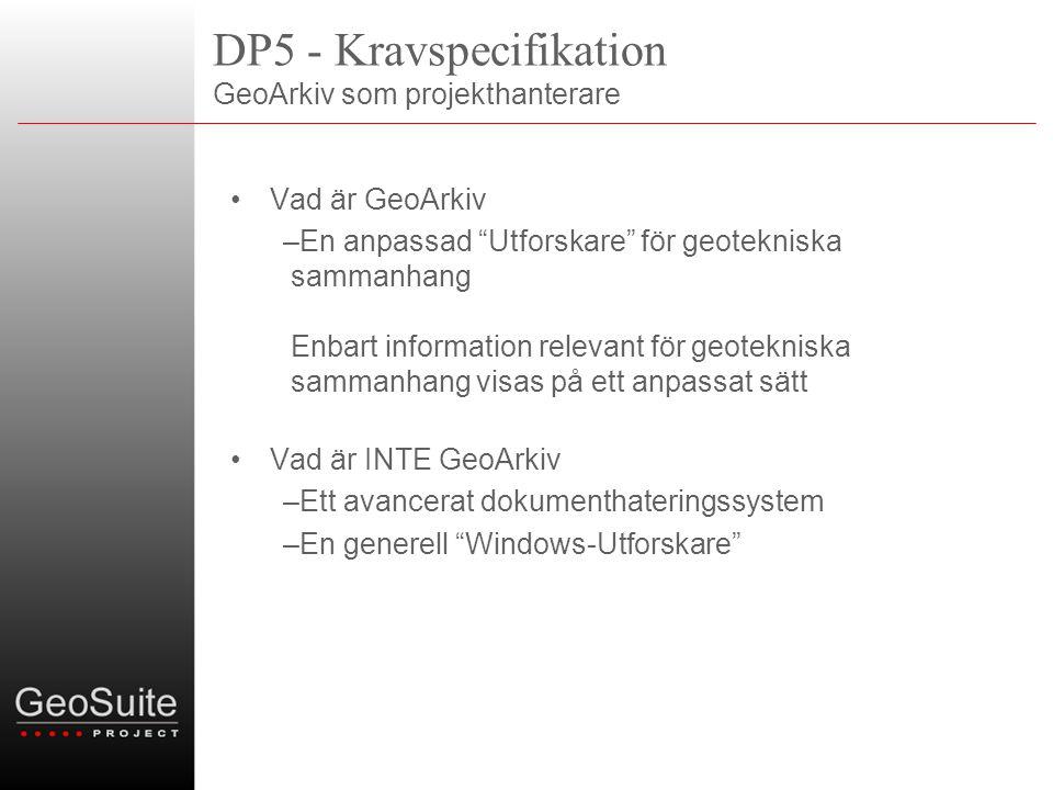 DP5 - Kravspecifikation GeoArkiv som projekthanterare