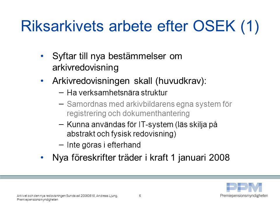 Riksarkivets arbete efter OSEK (1)