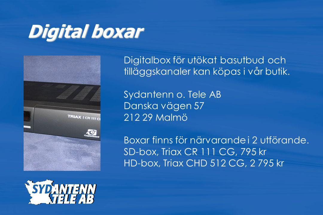 Digital boxar Digitalbox för utökat basutbud och