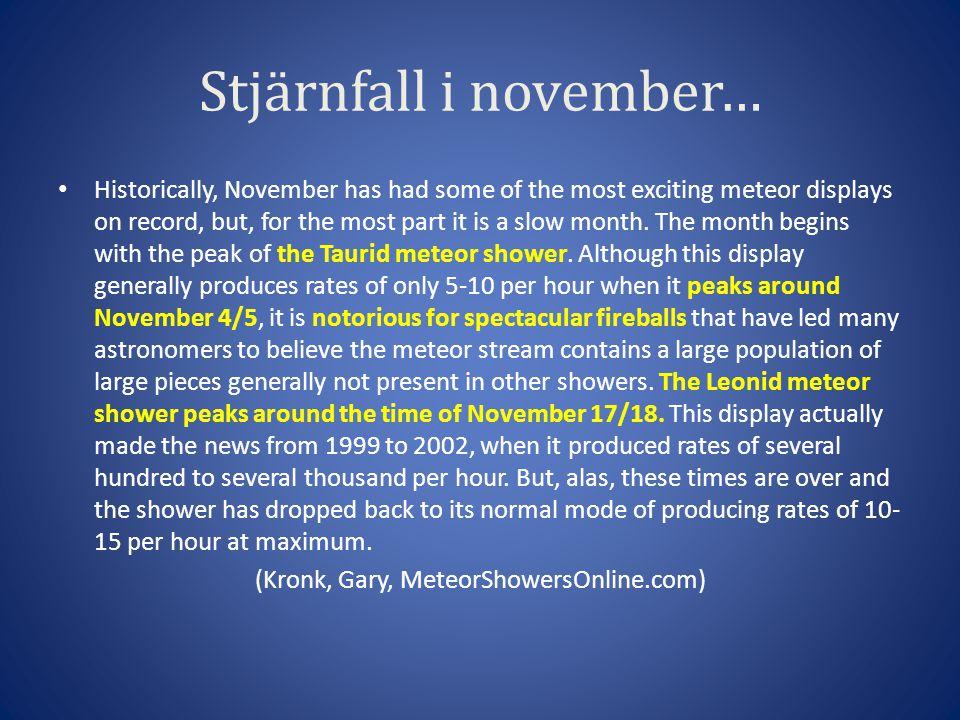 Stjärnfall i november…