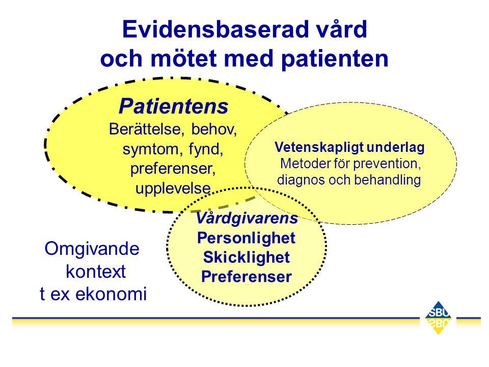 Evidensbaserad vård och mötet med patienten
