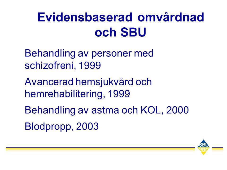 Evidensbaserad omvårdnad och SBU