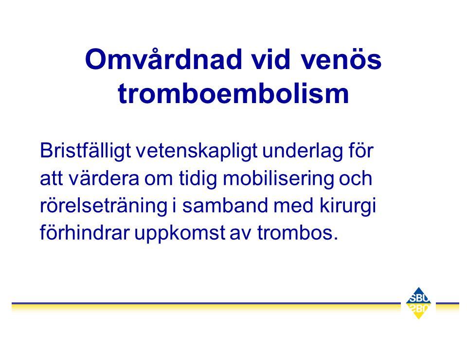 Omvårdnad vid venös tromboembolism