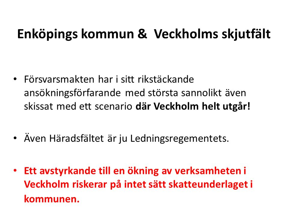 Enköpings kommun & Veckholms skjutfält