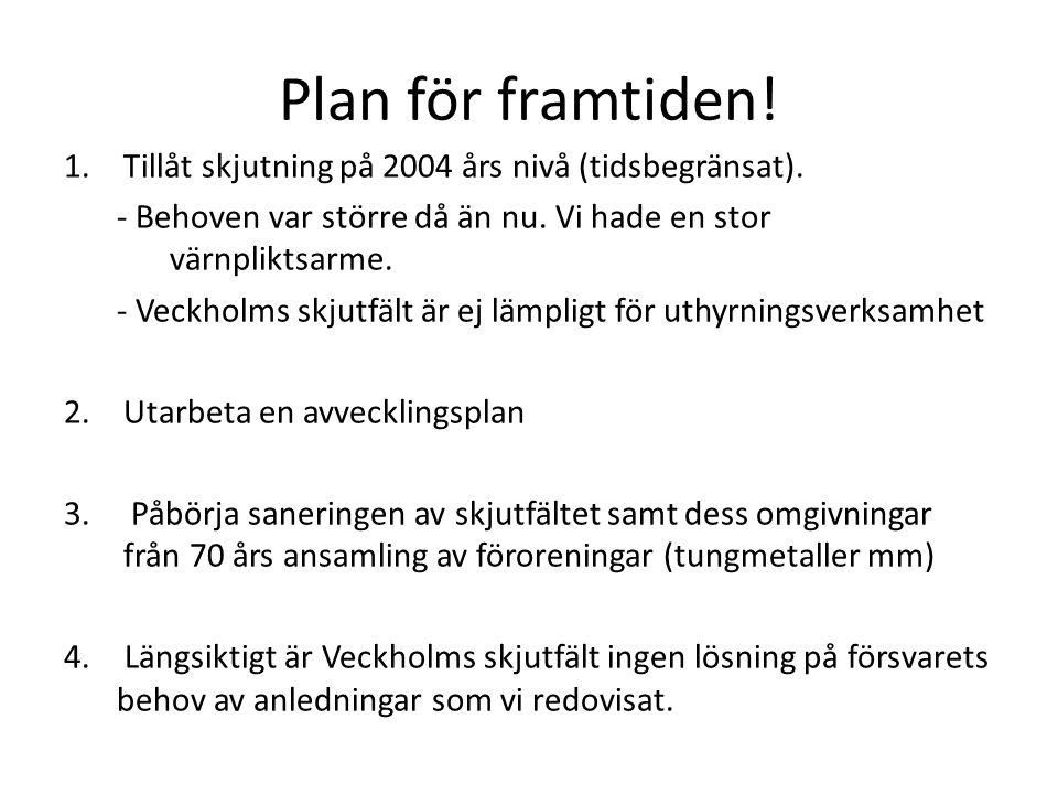 Plan för framtiden! Tillåt skjutning på 2004 års nivå (tidsbegränsat).