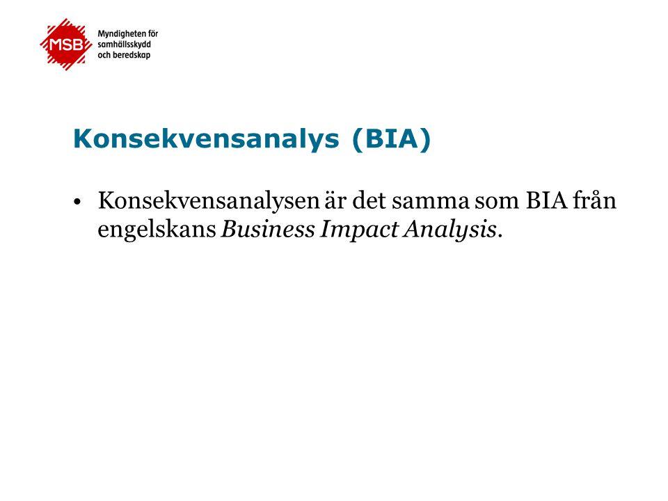 Konsekvensanalys (BIA)