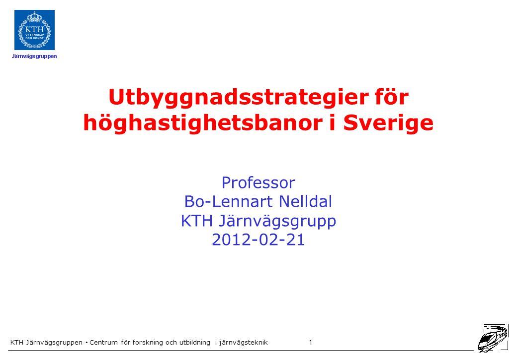 Utbyggnadsstrategier för höghastighetsbanor i Sverige